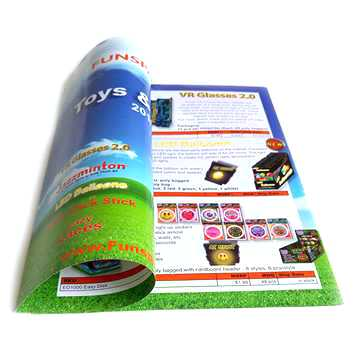 Glossy laminated staple binding custom print paper booklets (1)