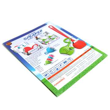 Glossy laminated staple binding custom print paper booklets (2)