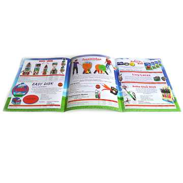 Glossy laminated staple binding custom print paper booklets (4)