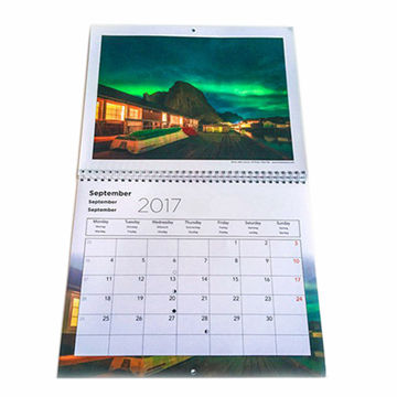 China Newly Y-O binding Wall calendar printing custom