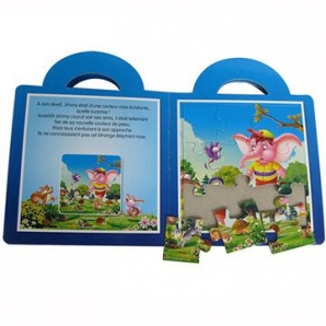 Custom Children Full Color Puzzle Book Printing wholesale