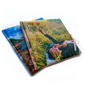 custom hardcover art book with ribbon