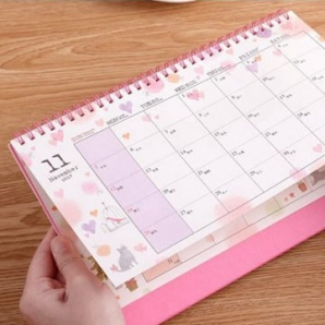 2018 New Year Standing Desk Calendars With Wire O Binding