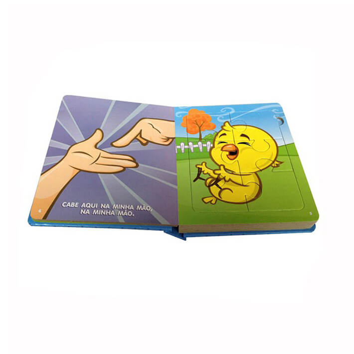 high quality China Printer Hardcover baby board book puzzle printing