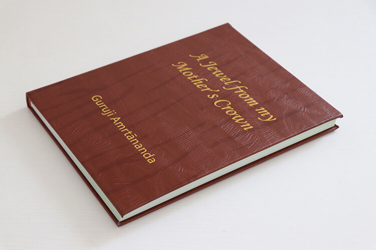 Gold Foil Cover Book - Cheap Leather Book Printing Services high quality