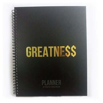 Black Wire Coil Custom life planner